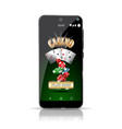 smartphone offering a casino game online highly vector image