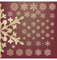 Snowflakes of old paper Retro style EPS 10 vector image