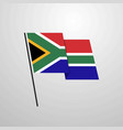 south africa waving flag design background vector image vector image