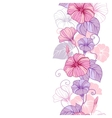 Stylish abstract floral background Design of vector image vector image