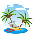 summer island vector image vector image