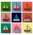 summer travel design - sail boat vector image vector image