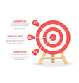 target with three arrows vector image vector image