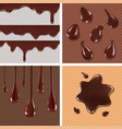 wafer and flowing chocolate vector image vector image