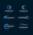water waves logos vector image vector image
