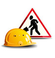Working sign and helmet