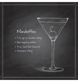 cocktail manhattan on black board vector image