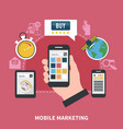 mobile marketing composition vector image