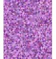 Purple regular triangle mosaic background design vector image