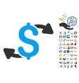 Cash Outs Icon With 2017 Year Bonus Symbols vector image