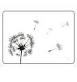 retro dandelion silhouette vector image