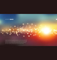 abstract colorful bokeh sun light beam background vector image