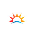 abstract sun beach logo symbol vector image vector image