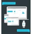Adaptive webdesign technology mockup vector image