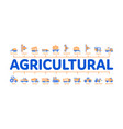 agricultural vehicles minimal infographic banner vector image vector image