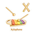 alphabet letter x xylophone vector image vector image