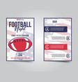 american football flyer sports party night layout vector image vector image