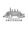amsterdam street view vector image