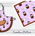 Apron With Blueberry Cupcakes vector image
