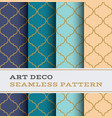 art deco seamless pattern 30 vector image vector image