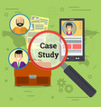 business case study of three option vector image vector image