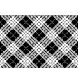 cameron black white tartan plaid pixel seamless vector image vector image