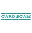 Card Scam Watermark Stamp vector image vector image