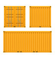 cargo yellow container for shipping and sea export vector image