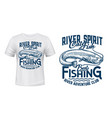 catfish fishing t-shirt print mockup vector image vector image