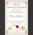 certificate or diploma retro template 02 vector image vector image