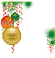 Christmas balls isolated on white background vector image vector image