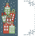 Christmas card winter city vector image