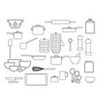 collection glassware kitchenware and cookware vector image vector image