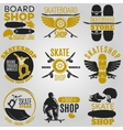 Colored Skateboarding Emblem Set vector image