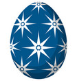 colorful blue easter egg poster vector image vector image