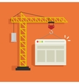 Crane building website vector image vector image