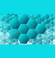 creative technology hexagonal backgrounds concept vector image