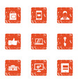 creator icons set grunge style vector image vector image
