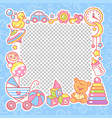 frame with baobjects toys accessories vector image vector image