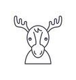 funny deer line icon concept funny deer vector image vector image