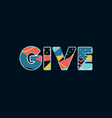 give concept word art vector image vector image