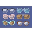 glasses isolated on background vector image