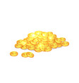 gold shiny ancient coins with star signs in heap vector image