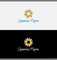 gradient abstract flower logo design vector image