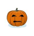 Halloween Evil Pumpkin vector image vector image