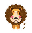 hand drawn a cute funny lion vector image