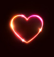 heart background halogen or led light neon sign vector image