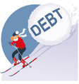 Holiday Debt vector image vector image