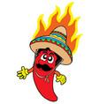 hot mexican chilli vector image
