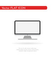 icon computer monitor flat style vector image